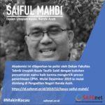 SAFEnet Kirim Amicus Curiae Untuk Kasus Dr Saiful Mahdi