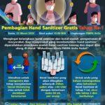 Hari Ini Mahasiswa Kimia Unila Bagikan Hand Sanitizer Gratis