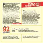92 Akademisi Menolak Omnibus Law