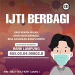 IJTI Lampung Berbagi Galang Dana untuk Donasi Terdampak Covid-19