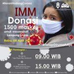 Cegah Covid-19 IMM Lampung Utara Bagikan 1500 Masker