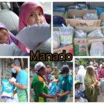 Relawan 69 Di Manado Kembali Distribusikan Sembako